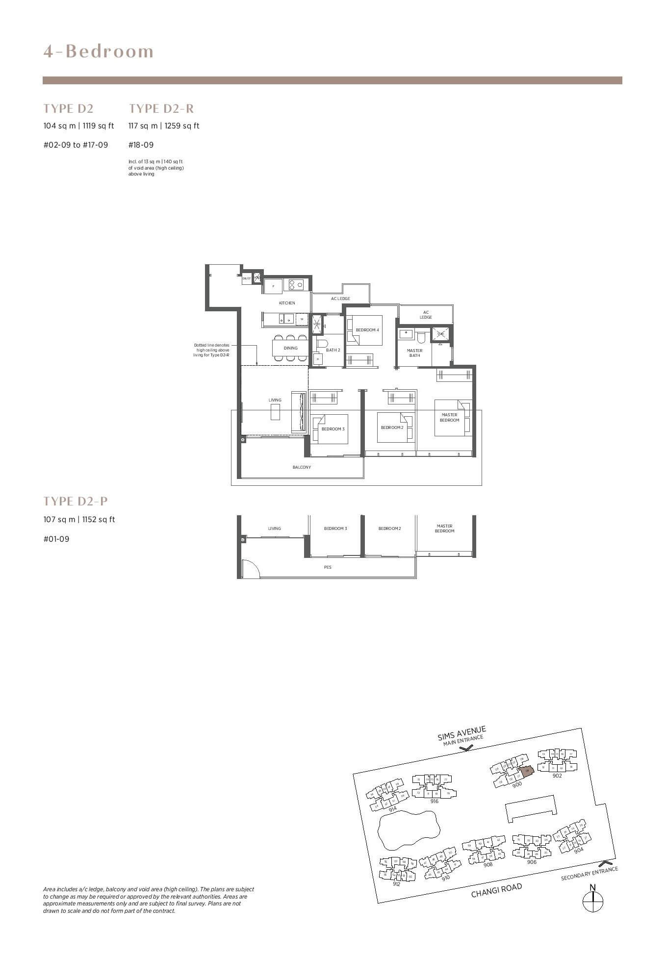 parc esta floor plan 4 bedroom